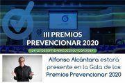 Alfonso Alcántara estará presente en la Gala de los Premios Prevencionar 2020