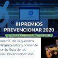 El maestro de la guitarra Manolo Franco estará presente en la Gala de los Premios Prevencionar 2020
