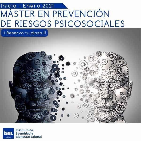 MÁSTER EN PREVENCIÓN DE RIESGOS PSICOSOCIALES