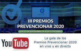 Sigue La gala de los Premios Prevencionar 2020 en vivo y en directo