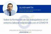 Sobre la formación de los trabajadores en el entorno laboral relacionada con el COVID19