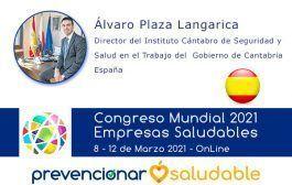 Álvaro Plaza Langarica participará en el Congreso Mundial de Empresas Saludables
