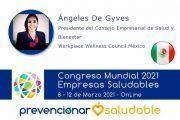 Ángeles De Gyves participará en el Congreso Mundial Prevencionar Saludable