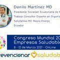 Danilo Martínez MD participará en el Congreso Mundial de Empresas Saludables