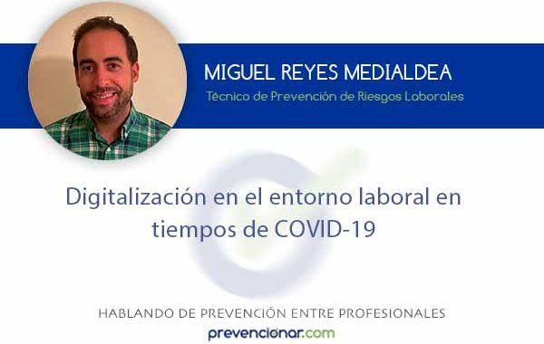 Digitalización en el entorno laboral en tiempos de COVID-19