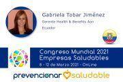 Gabriela Tobar Jiménez participará en el Congreso Mundial de Empresas Saludables