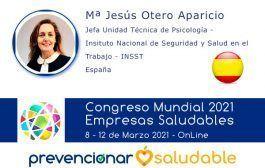 Mª Jesús Otero Aparicio participará en el Congreso Mundial Empresa Saludable