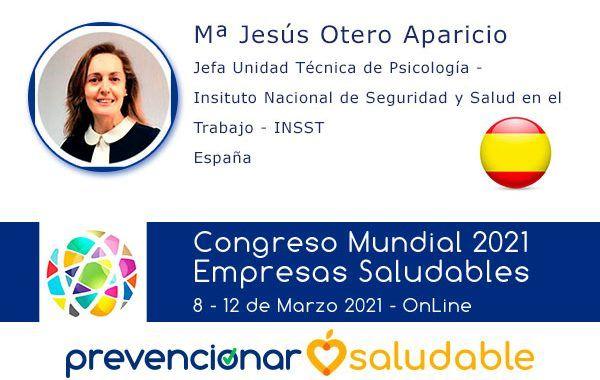 Mª Jesús Otero Aparicio participará en el Congreso Mundial de Empresas Saludables