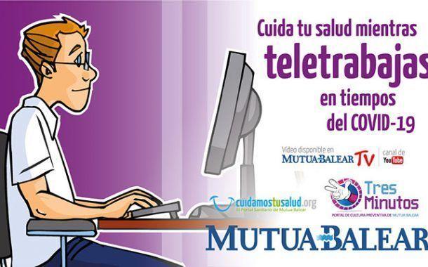 Mutua Balear publica un video de consejos para cuidar de la salud durante el teletrabajo