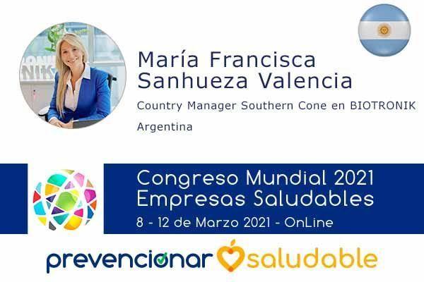 Maria Francisca Sanhueza Valencia participará en el Congreso Mundial de Empresas Saludables