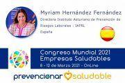 Myriam Hernández Fernández participará en el Congreso Prevencionar Saludable