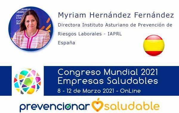 Myriam Hernández Fernández participará en el Congreso Mundial de Empresas Saludables