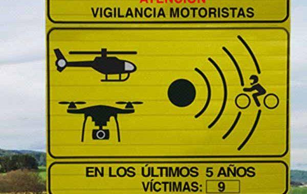 Nueva señalización para motoristas en carretera