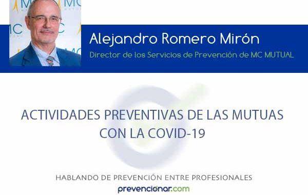 Actividades preventivas de las mutuas con la COVID-19