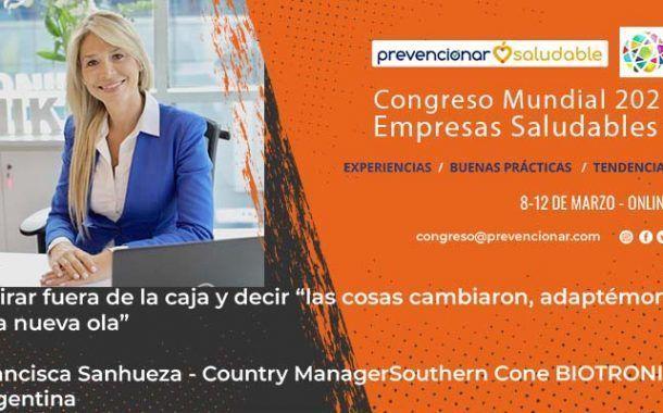Congreso Mundial Empresa Saludable – Entrevista a la Francisca Sanhueza