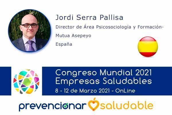 Jordi Serra Pallisa participará en el Congreso Mundial de Empresas Saludables