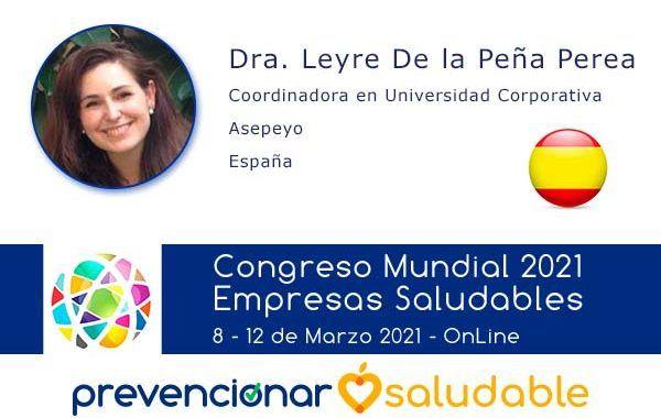 Leyre De la Peña participará en el Congreso Mundial de Empresas Saludables