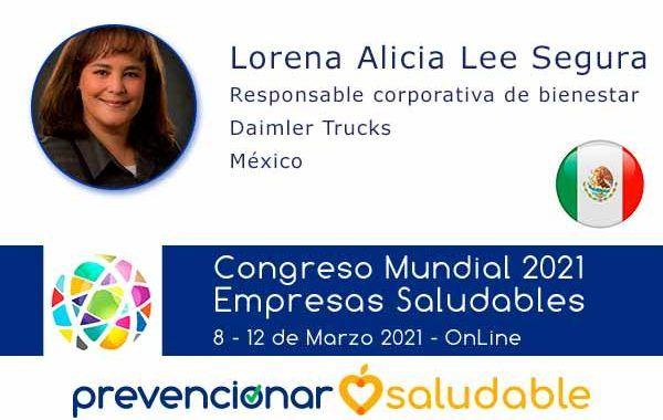 Lorena Alicia Lee participará en el Congreso Mundial de Empresas Saludables