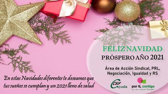 CSIF les desea Feliz Navidad y Próspero Año 2021