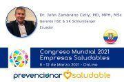 Dr. John Zambrano Celly participará en el Congreso Mundial de Empresas Saludables