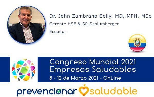 John Zambrano Celly participará en el Congreso Mundial de Empresas Saludables