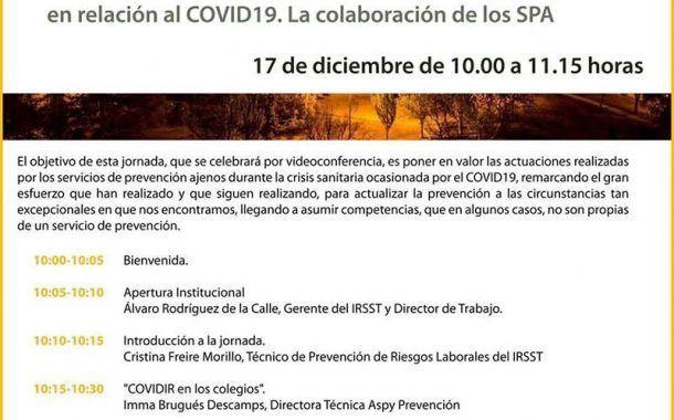 Jornada: Responsabilidades preventivas de las empresas en relación al COVID19. La colaboración de los SPA