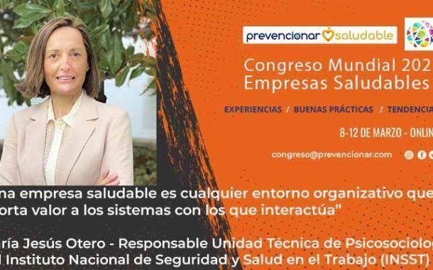 Congreso Mundial Empresa Saludable – Entrevista a: María Jesús Otero