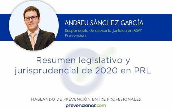Resumen legislativo y jurisprudencial de 2020 en PRL