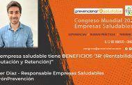 Congreso Mundial Empresa Saludable – Entrevista a: Javier Díaz Berlanas