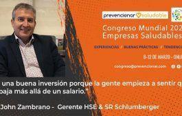 Congreso Mundial Empresa Saludable – Entrevista a: John J. Zambrano Celly