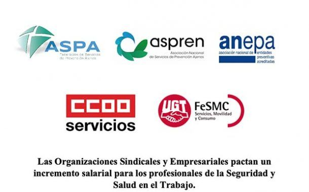 Incremento salarial para los profesionales de la Seguridad y Salud en el Trabajo