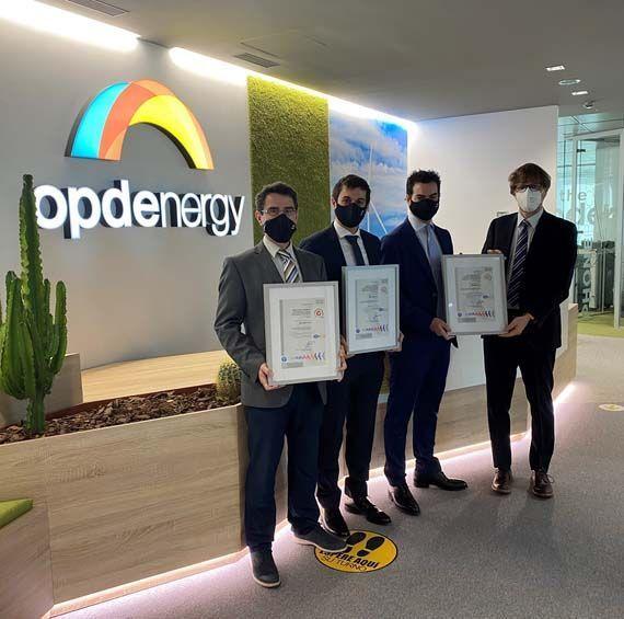 Opdenergy obtiene las certificaciones ISO 9001, ISO 14001 e ISO 45001