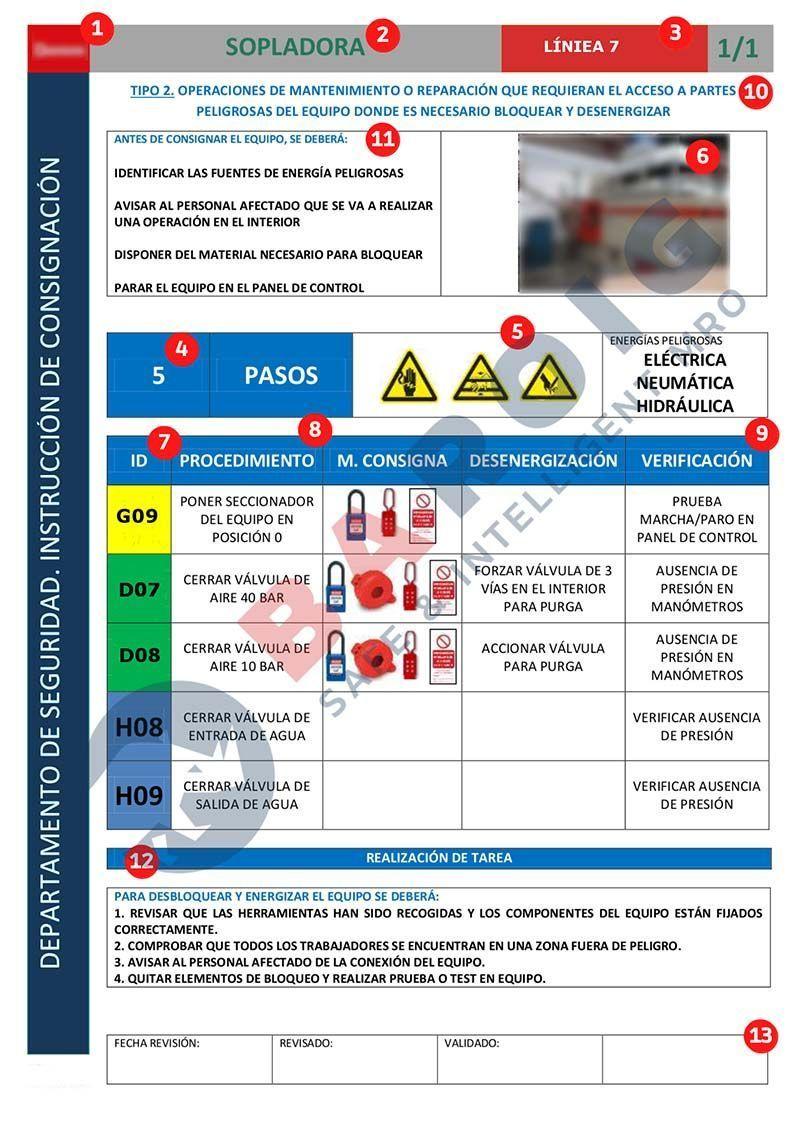 Baroig - Ficha instrucción de consignación