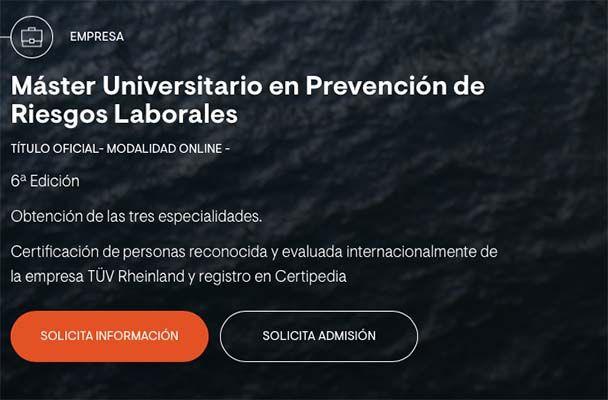 ¿Qué hace al Máster Universitario en Prevención de Riesgos Laborales de la VIU único?