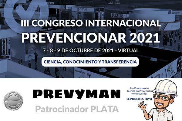 PREVYMAN se convierte en patrocinador PLATA del Congreso Internacional Prevencionar 2021