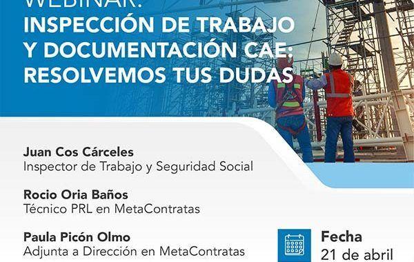 Inspección de Trabajo y Documentación CAE: Resolvemos tus dudas #webinar