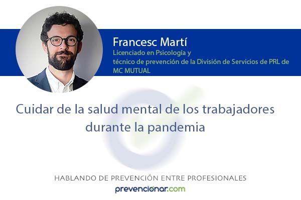 Cuidar de la salud mental de los trabajadores durante la pandemia