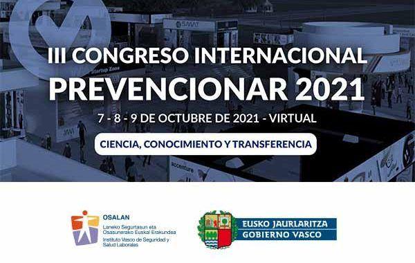 El Instituto Vasco de Seguridad y Salud Laborales (OSALAN) se suma al III Congreso Internacional Prevencionar