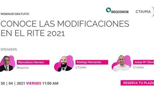 Conoce las modificaciones en el RITE 2021 #webinar