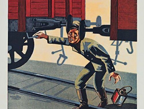 Los 10 mejores carteles de Seguridad y Salud de la antigua URSS (1)