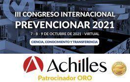 Achilles se convierte en patrocinador ORO del Congreso Internacional Prevencionar 2021