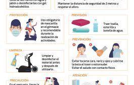 En el gimnasio, ¡evita cualquier riesgo de contagio!