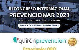 Quirónprevención se convierte en patrocinador ORO del Congreso Internacional Prevencionar 2021