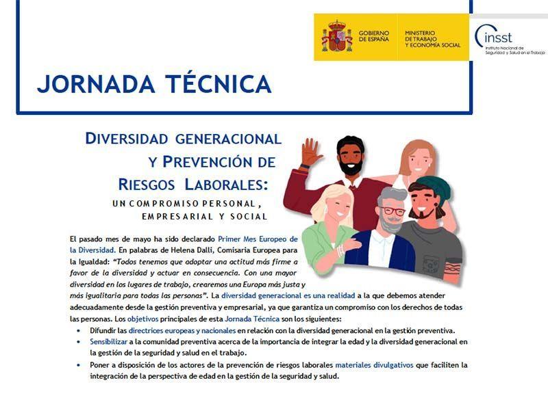 Jornada Técnica Virtual: Diversidad generacional y PRL: un compromiso individual, empresarial y social