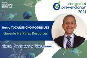 Entrevista a Henry Tocaruncho con motivo del III Congreso Internacional Prevencionar