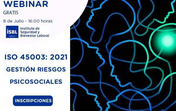 #webinar ISO 45003 Gestión de los Riesgos Psicosociales #gratis