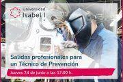 La Universidad Isabel I organiza un webinar sobre las salidas profesionales para un técnico de prevención de riesgos laborales