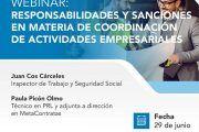 Responsabilidades y sanciones en materia de Coordinación de Actividades Empresariales #webinar