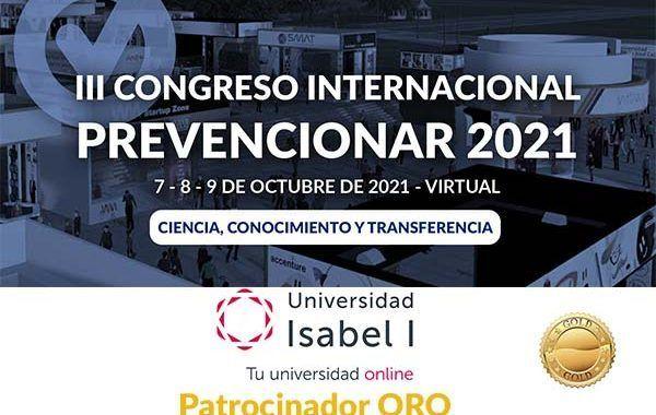 La Universidad Isabel I se convierte en patrocinador ORO del Congreso Internacional Prevencionar 2021