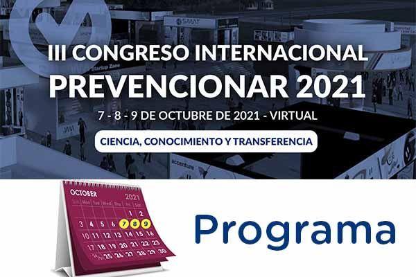 Programa III Congreso Internacional Prevencionar